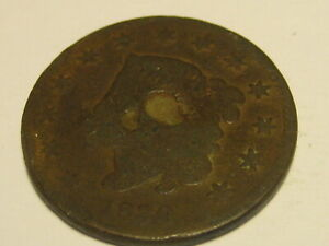 1830 CORONET HEAD LARGE CENT CULL