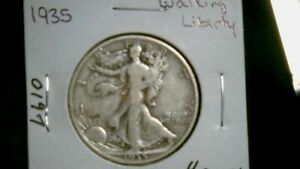 1935 WALKING LIBERTY SILVER HALF DOLLAR ONE SHOWN IN PICS  1240
