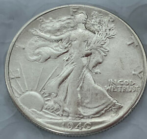 1940 WALKING LIBERTY HALF DOLLAR   AU /WITH BU LUSTER CONDITION   NICE COIN