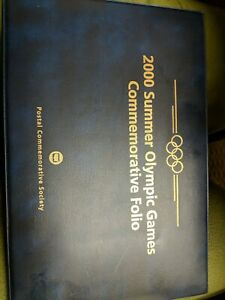 AUSTRALIA 2000 SUMMER OLYMPIC GAMES COMMEMORATIVE FOLDER STAMPS AND COIN