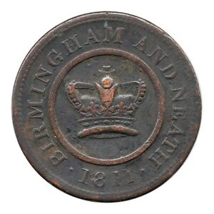 BIRMINGHAM & NEATH   CROWN COPPER COMPANY   ONE PENNY TOKEN 1811