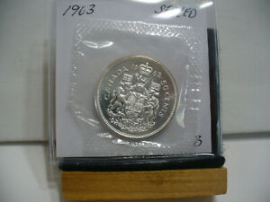 Click now to see the BUY IT NOW Price! 1963 CANADA SILVER HALF DOLLAR TOP GRADE  50 CENT PIECE  63B  PROOF LIKE  SEALED
