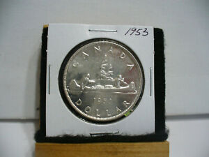 Click now to see the BUY IT NOW Price! 1953  CANADA  SILVER DOLLAR  COIN   NICE GRADE  SEE PHOTOS   53  NICE GRADE