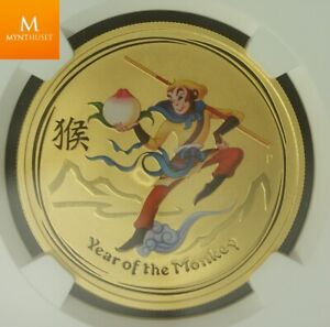 Click now to see the BUY IT NOW Price! 2016P AUSTRALIA GOLD 100 DOLLAR MONKEY KING YEAR OF THE MONKEY NGC MS70