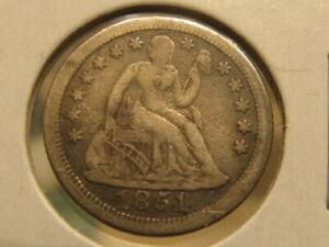 XF 1851 O SEATED DIME   ONLY 400 000 MADE   TIQ