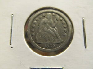 XF 1859 S SEATED DIME   KEY DATE   DIFFICULT TO FIND IN HIGH