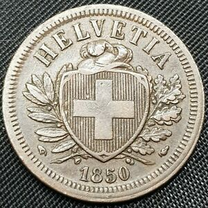 SWITZERLAND 2 RAPPEN  1850 1945  CHOOSE YOUR YEAR & CONDITION