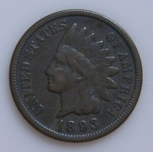 1893 INDIAN HEAD PENNY NICE DETAILS