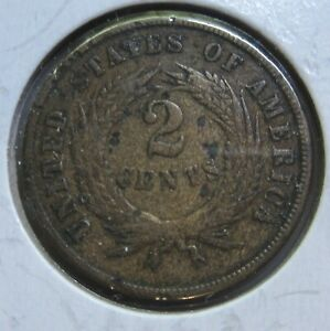1870 U.S. TWO CENT COIN LOW MINTAGE NICE COIN