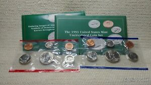 1993 P&D US MINT SET 10PC UNC COIN SET 200450