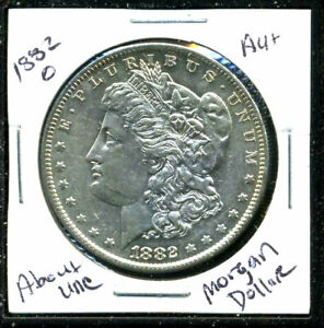 1882 O AU MORGAN DOLLAR 90  SILVER COIN ABOUT UNCIRCULATED COMBINE SHIP$1WC1630