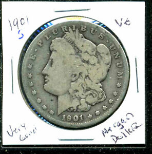 1901 S VG MORGAN DOLLAR 90  SILVER GOOD U.S.A COMBINE SHIP $1 COIN WCC1658