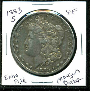 1883 S XF MORGAN DOLLAR EXTRA FINE 90  US SILVER $1 SHIPPING ADD ONS COINWC1664