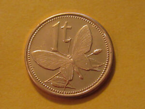 2002 PAPUA NEW GUINEA  1 TOEA BUTTERFLY COIN    UNC BEAUTY   CLASSIC COIN