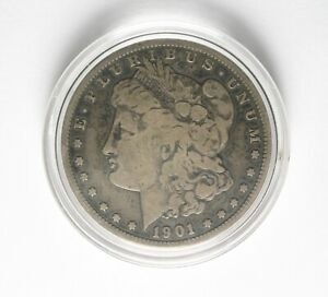 1901 S MORGAN SILVER DOLLAR NICE ORIGINAL ALMOST XF.