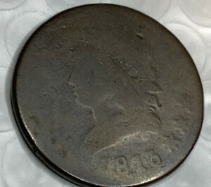 1813 LARGE CENT GOOD DETAILS LOW MINTAGE  FIND GREAT PRICE ON THIS COIN