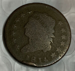 1814 CLASSIC HEAD LARGE CENT  GOOD DETAILS LOW MINTAGE  WITH NICE PRICE