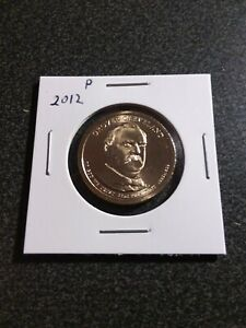 2012 P   GROVER CLEVELAND $1 DOLLAR PRESIDENTIAL COIN  22ND PRESIDENT