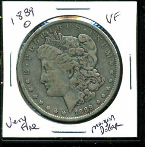 1889 O VF MORGAN DOLLAR FINE 90  SILVER US  COMBINE SHIP $1 COINWC1413