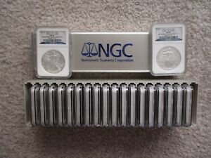 Click now to see the BUY IT NOW Price! 2010 SILVER EAGLES 20 COIN NGC EARLY RELEASEMS69 BOX 1 TO 20  25 YEARS OF ASE