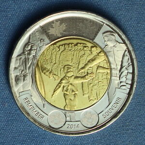 CANADA 2014 TOONIE 2$ FROM A MINT ROLL  SPECIAL WAIT FOR ME DADDY REVERSE