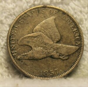 1857 FLYING EAGLE PENNY