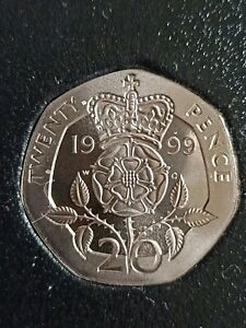 1999 PROOF TWENTY PENCE PIECE 20P COIN HOUSED IN A SLEEVE  FREE POSTAGE