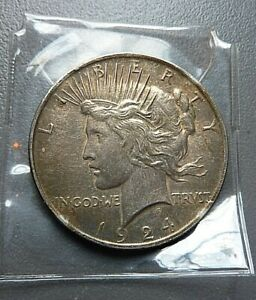 1924 P PEACE SILVER DOLLAR   USA