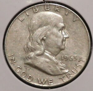 FRANKLIN HALF DOLLAR   1963 D   OVERSTOCK SALE    $1 UNLIMITED SHIPPING  012