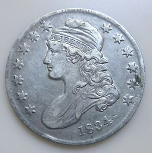 1834 SILVER CAPPED BUST HALF DOLLAR SM DATE/SM STARS/SM LETTERS HIGHER GRADE