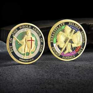 COLLECTION COIN THE CHALLENGE ARMOR COINS GIFT PUT GOD OF WHOLE ON COMMEMORATIVE
