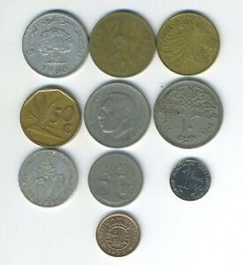 AFRICA   LOT OF 10 DIFFERENT COINS   10 COUNTRIES   GREAT STARTER   LOT AF 107