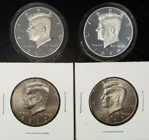 2010 P D S S KENNEDY SILVER & CLAD PROOFS P & D FROM U.S. MINT 4 HALF DOLLARS