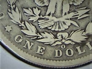 1891 O VAM 1A ERROR CLASH E REV TOP 100  LIST MORGAN DOLLAR GOOD CONDITION