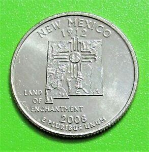 2008 P 25C NEW MEXICO STATE QUARTER   UNCIRCULATED FROM MINT ROLL