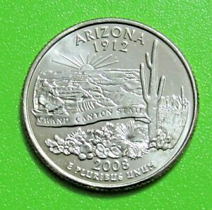 2008 P 25C ARIZONA STATE QUARTER   UNCIRCULATED FROM MINT ROLL