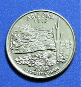 2008 D 25C ARIZONA STATE QUARTER   UNCIRCULATED FROM MINT ROLL
