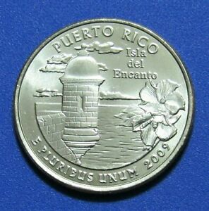 2009 P 25C PUERTO RICO US TERRITORIES QUARTER   UNCIRCULATED FROM MINT ROLL