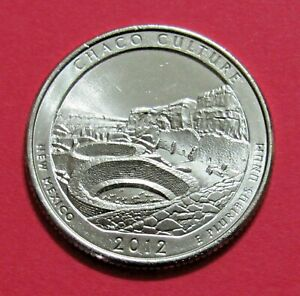 2012 P 25C CHACO CULTURE NEW MEXICO NATIONAL PARKS AMERICA THE BEAUTIFUL QUARTER