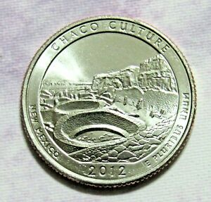 2012 D 25C CHACO CULTURE NEW MEXICO NATIONAL PARKS AMERICA THE BEAUTIFUL QUARTER