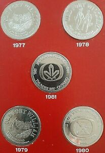 1981 JEUX CANADA GAMES COMMEMORATIVE COINS   THUNDER BAY ON