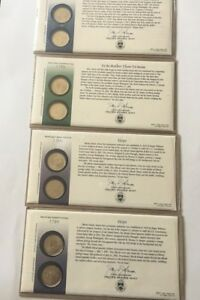 4  2001 P&D QUARTER 2 COIN SETS IN ORIG.PKG. NY N CAROLINA 2 RHODE ISLAND MINT