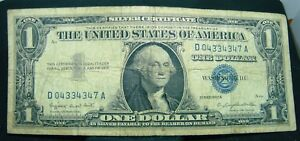 $1 1957A CU SILVER CERTIFICATE OLD ONE DOLLAR US PAPER MONEY BLUE SEAL BILL NOTE
