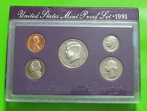 1991 S UNITED STATES MINT PROOF SET   ORIGINAL BOX