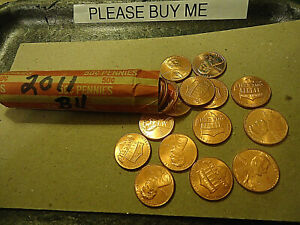 2011 ROLL OF LINCOLN CENTS        > C/S & H AVAILABLE <