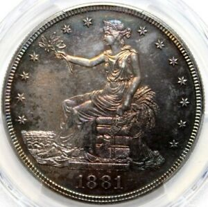 1881 T$1 TRADE SILVER DOLLAR  PCGS R64 TRADE   THE BEST COIN I HAVE