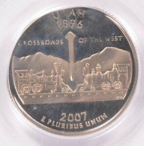 Click now to see the BUY IT NOW Price! PCGS 25C 2007 S PROOF UTAH QUARTER ELLIPTICAL CLIP PF66 DCAM