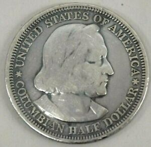 1893 US CHRISTOPHER COLUMBUS SILVER HALF DOLLAR EXPOSITION COMMEMORATIVE