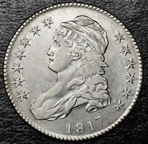 1817 CAPPED BUST HALF DOLLAR OVERTON 110A.  R.2.  LOW MINTAGE YEAR.