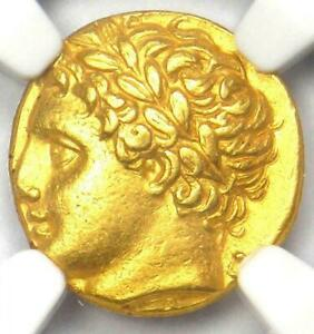 Click now to see the BUY IT NOW Price! 317   289 BC APOLLO SICILY AGATHOCLES AV DECADRACHM ANCIENT GOLD COIN NGC CH XF